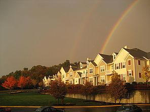 Rainbow over Highland Village